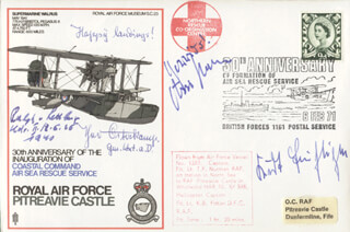 MAJOR HANS ASSI HAHN - COMMEMORATIVE ENVELOPE SIGNED CO-SIGNED BY: MAJOR GENERAL THEODOR THEO OSTERKAMP, LT. COLONEL KURT BUHLIGEN, LT. COLONEL RALPH VON RETTBERG