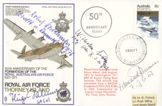 MAJOR WILHELM BATZ - COMMEMORATIVE ENVELOPE SIGNED CO-SIGNED BY: LT. COLONEL HUGO DAHMER, COMMANDER ROBERT KOWALEWSKI, LIEUTENANT (JG) EDMUND ROSSMAN