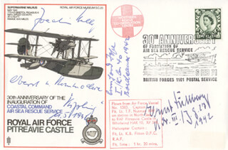 BERNHARD JOPE - COMMEMORATIVE ENVELOPE SIGNED CO-SIGNED BY: COLONEL JOACHIM HELBIG, ERNST DULLBERG