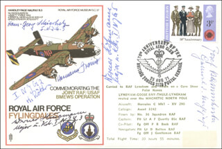 GENERAL JOSEF KAMMHUBER - COMMEMORATIVE ENVELOPE SIGNED CO-SIGNED BY: CAPTAIN HEINZ ROKKER, LT. COLONEL HERMANN GREINER, HANS-GEORG SCHIERHOLZ, MAJOR WERNER HUSEMANN, MAJOR WERNER HOFFMANN