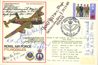 HEINZ DEFRIES - COMMEMORATIVE ENVELOPE SIGNED CO-SIGNED BY: RUDOLPH SCHOENERT, GUNTHER RADUSCH, HANS VON GIENANTH, KARL PFEIFFER, PAUL ZORNER