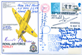 LT. KURT EBENER - COMMEMORATIVE ENVELOPE SIGNED CO-SIGNED BY: LT. ECKART-WILHELM VON BONIN, SERGEANT ALOIS WOSNITZA, MAJOR GENERAL MAX IBEL