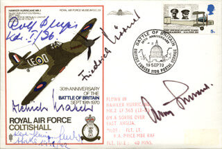 GENERAL ADOLF GALLAND - COMMEMORATIVE ENVELOPE SIGNED CO-SIGNED BY: DIETRICH HRABAK, KARL-HEINZ BENDERT, FRIEDRICH KORNER, ROLF PINGEL