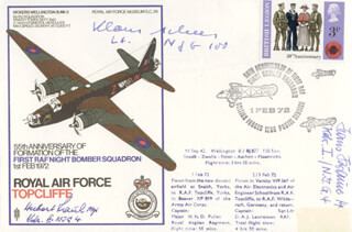 HANS KRAUSE - COMMEMORATIVE ENVELOPE SIGNED CO-SIGNED BY: 1LT HUBERT RAUH, KLAUS SCHEER