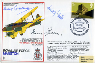 MAJOR GENERAL HANS RITTER - COMMEMORATIVE ENVELOPE SIGNED CO-SIGNED BY: LT. GENERAL FRIEDRICH STAHL, MAJOR GENERAL RUDOLPH TRAUTVETTER