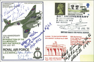 WOLFGANG FALCK - COMMEMORATIVE ENVELOPE SIGNED CO-SIGNED BY: JOHANNES STEINHOFF, STEFAN LITJENS, LT. ADOLF GLUNZ