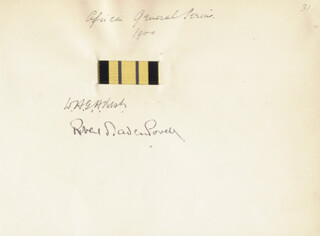 Autographs: ROBERT BADEN-POWELL - SIGNATURE(S) 1900