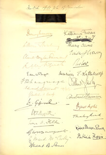 Autographs: ROBERT BADEN-POWELL - SIGNATURE(S) CIRCA 1917 CO-SIGNED BY: EDEN W. PAGET, EDWARD STEWART, DAME EMMA MAUD MCCARTHY, HERBERT B. AMES, MARY CANE, LORA FLETCHER