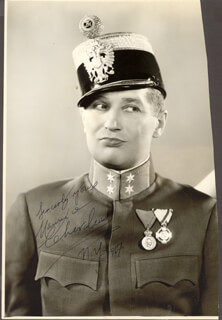 MAURICE CHEVALIER - AUTOGRAPHED SIGNED PHOTOGRAPH 1967