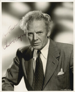 CHARLES BICKFORD - AUTOGRAPHED SIGNED PHOTOGRAPH
