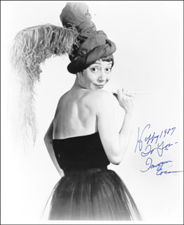IMOGENE COCA - AUTOGRAPHED SIGNED PHOTOGRAPH 1987