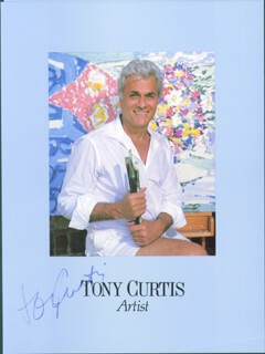 TONY CURTIS - PAMPHLET SIGNED