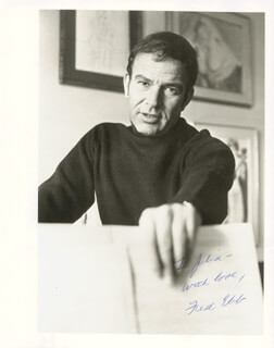 FRED EBB - AUTOGRAPHED INSCRIBED PHOTOGRAPH