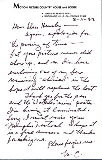 MAE CLARKE - AUTOGRAPH LETTER SIGNED 03/11/1983