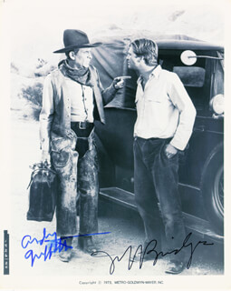 HEARTS OF THE WEST MOVIE CAST - AUTOGRAPHED SIGNED PHOTOGRAPH CO-SIGNED BY: ANDY GRIFFITH, JEFF BRIDGES