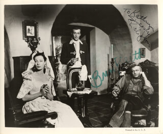 SIERRA BARON MOVIE CAST - INSCRIBED PRINTED PHOTOGRAPH SIGNED IN INK CO-SIGNED BY: RICK JASON, BRIAN KEITH