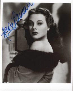 HEDY LAMARR - AUTOGRAPHED SIGNED PHOTOGRAPH