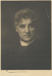 DAVID BELASCO - AUTOGRAPHED INSCRIBED PHOTOGRAPH 4/1913