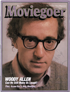 WOODY ALLEN - MAGAZINE COVER SIGNED  - HFSID 75327