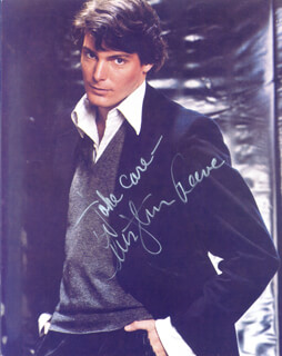 CHRISTOPHER REEVE - AUTOGRAPHED SIGNED PHOTOGRAPH
