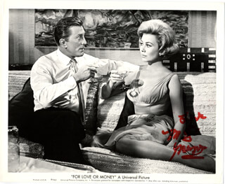 MITZI GAYNOR - PRINTED PHOTOGRAPH SIGNED IN INK