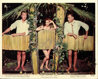THE LITTLE HUT MOVIE CAST - AUTOGRAPHED SIGNED PHOTOGRAPH CO-SIGNED BY: STEWART GRANGER, AVA GARDNER