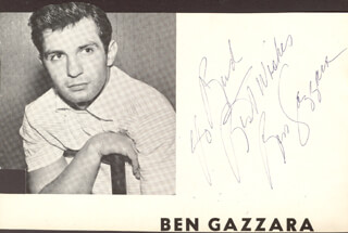 BEN GAZZARA - INSCRIBED MAGAZINE PHOTO SIGNED