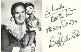 BUFFALO BOB SMITH - INSCRIBED PICTURE POSTCARD SIGNED