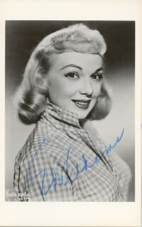 EDIE ADAMS - PICTURE POST CARD SIGNED