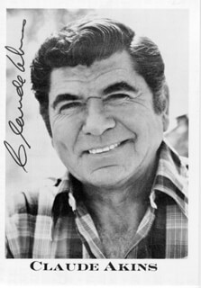 Autographs: CLAUDE AKINS - PRINTED PHOTOGRAPH SIGNED IN INK