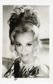 EVA GABOR - AUTOGRAPHED SIGNED PHOTOGRAPH