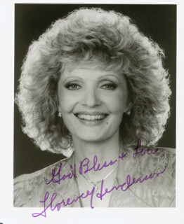 FLORENCE HENDERSON - AUTOGRAPHED SIGNED PHOTOGRAPH