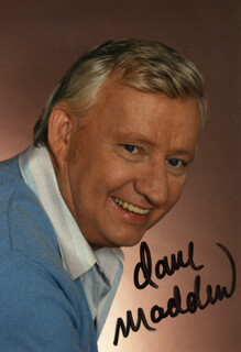 DAVE MADDEN - AUTOGRAPHED SIGNED PHOTOGRAPH