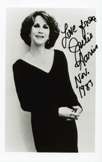 JULIE HARRIS - AUTOGRAPHED SIGNED PHOTOGRAPH 11/1983