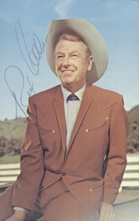 Autographs: REX ALLEN - INSCRIBED PICTURE POST CARD TWICE SIGNED CIRCA 1981
