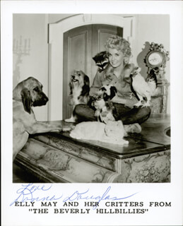 DONNA DOUGLAS - PRINTED PHOTOGRAPH SIGNED IN INK