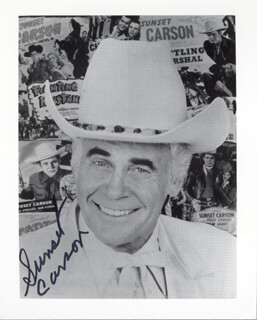 SUNSET CARSON - AUTOGRAPHED SIGNED PHOTOGRAPH