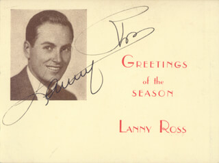 MAJOR LANNY ROSS - CHRISTMAS / HOLIDAY CARD SIGNED