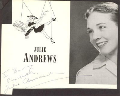 JULIE ANDREWS - INSCRIBED MAGAZINE PHOTO SIGNED