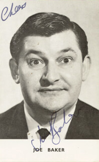 JOE BAKER - AUTOGRAPHED SIGNED PHOTOGRAPH