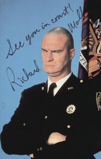 RICHARD MOLL - AUTOGRAPHED SIGNED PHOTOGRAPH