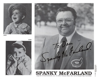 SPANKY McFARLAND - AUTOGRAPHED INSCRIBED PHOTOGRAPH