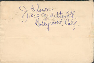 JOHNNY DOWNS - AUTOGRAPH ENVELOPE SIGNED CIRCA 1935