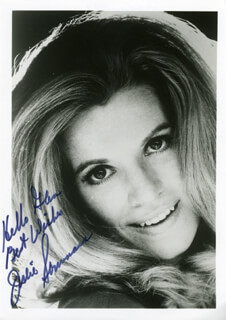 JULIE SOMMARS - AUTOGRAPHED INSCRIBED PHOTOGRAPH