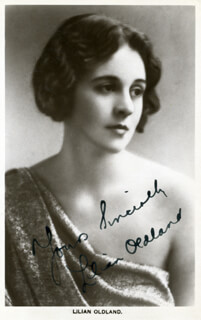 LILIAN (MARY NEWLAND) OLDLAND - PICTURE POST CARD SIGNED