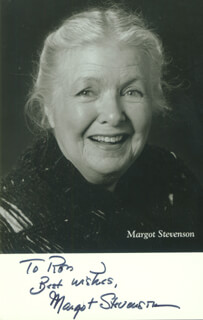MARGOT STEVENSON - AUTOGRAPHED SIGNED PHOTOGRAPH