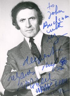 MARCEL MARCEAU - INSCRIBED PICTURE POSTCARD SIGNED 1972