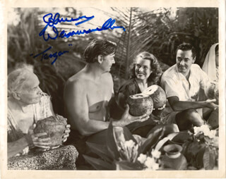 JOHNNY WEISSMULLER - AUTOGRAPHED SIGNED PHOTOGRAPH