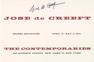 JOSE DE CREEFT - PAMPHLET SIGNED