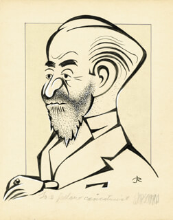 AL HIRSCHFELD - INSCRIBED CARICATURE SIGNED CO-SIGNED BY: JACK ROSEN
